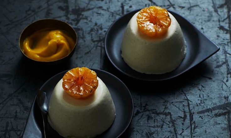 Star anise sugar, creamy panna cotta and a delicious clementine curd combine to create this decadent dessert from The Dairy chef Robin Gill