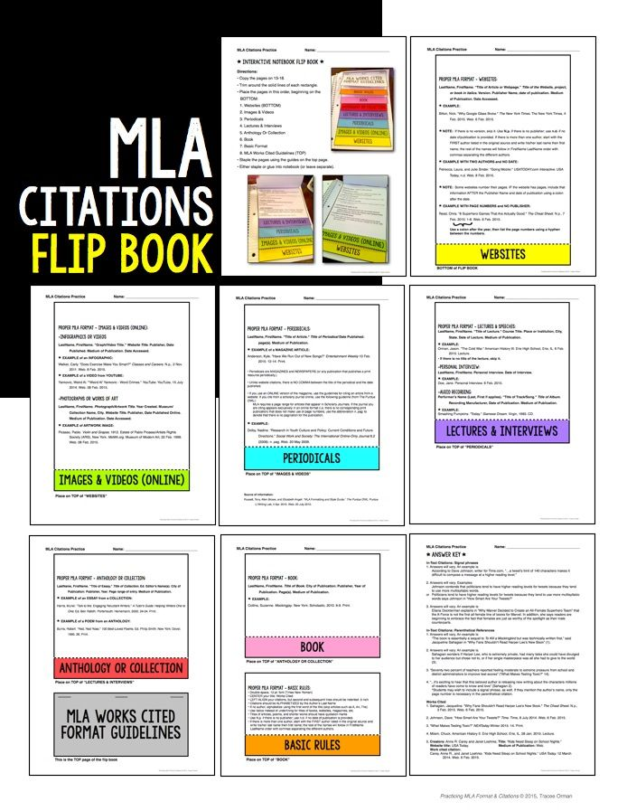 mla citation book report