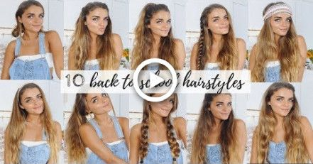 10 QUICK & EASY HAIRSTYLES FOR BACK TO SCHOOL | Tess Florio
