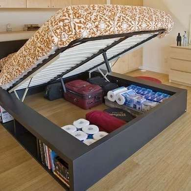 Underbed Storage - Hidden Storage Ideas - 10 Sly Spots to Put Your Stuff - Bob Vila - Bob Vila