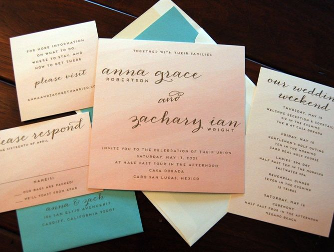 Sunrise Wedding Invitations: 23 Best Images About Watercolor Wedding Invitations On