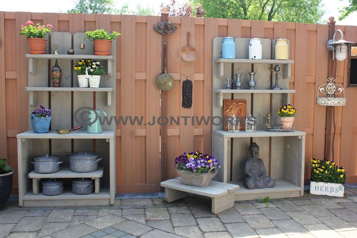 14 best jontiworks steigerhout tuinkasten images on pinterest - Outdoor tuin decoratie ideeen ...