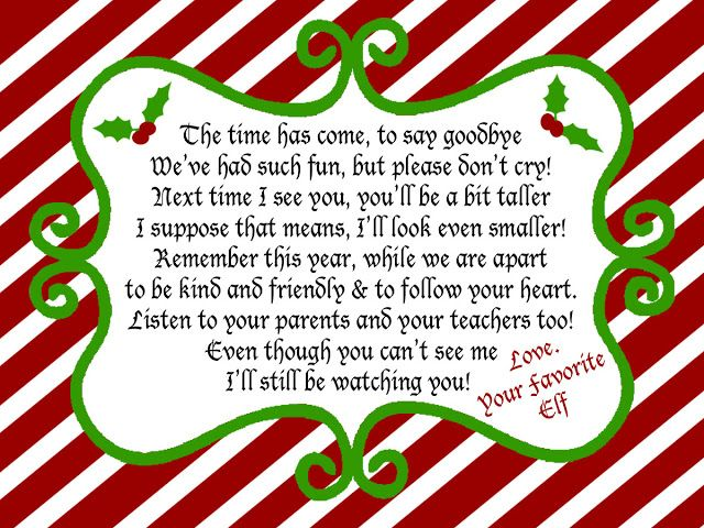 Juneberry Lane: Elf on a Shelf Free Printables!! Elf on a Shelf Goodbye Note for Christmas Eve! Surprise your kiddos this Christmas morning (and remind them that Elf is watching all the year through!) with these FREE printables from Juneberry Lane