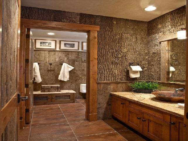 17 best ideas about rustic bathroom designs on pinterest for Rustic half bath ideas