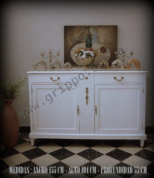 Armario Metalico Barato ~ #Mf Vende Encantador Aparador Antiguo Con Marmol A Blanco Aparador antiguo, Aparadores y Blanco