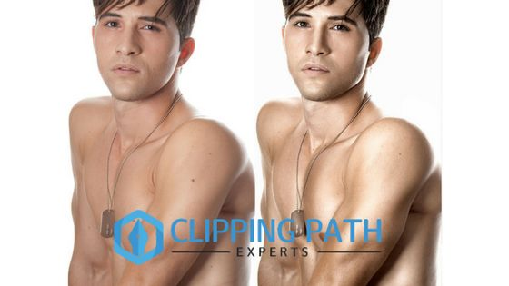 Create glossy effect ad enhance every part of the photo by image retouching service.