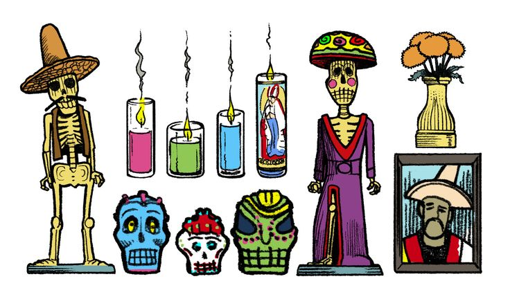 Anatomy of a Day of the Dead altar, great read and illustrations!