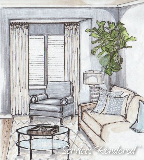 63 best marker rendering interiors images on pinterest for Interior design drawing tips