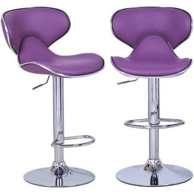 Bareneed Purple Modern Bar Stools (Set of two)