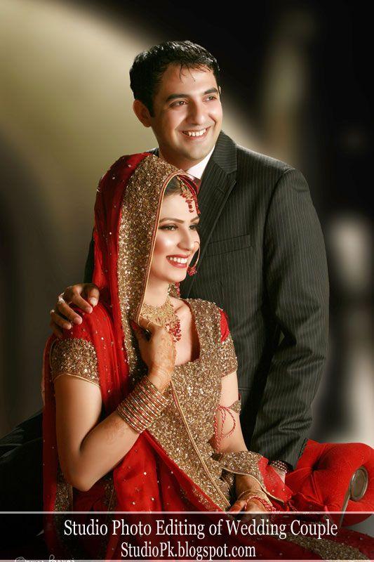 Studio Photo Editing of Wedding Couple