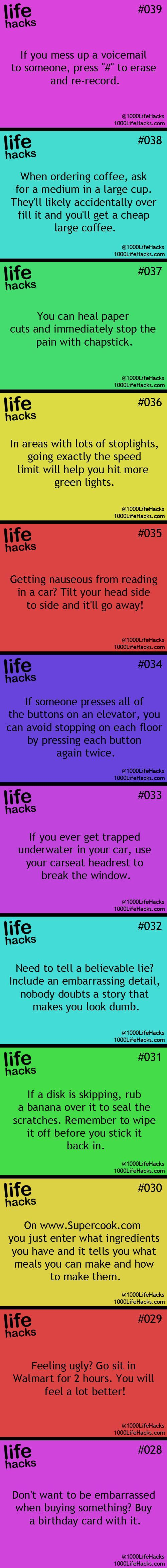 I love life hacks! So many great ideas!!