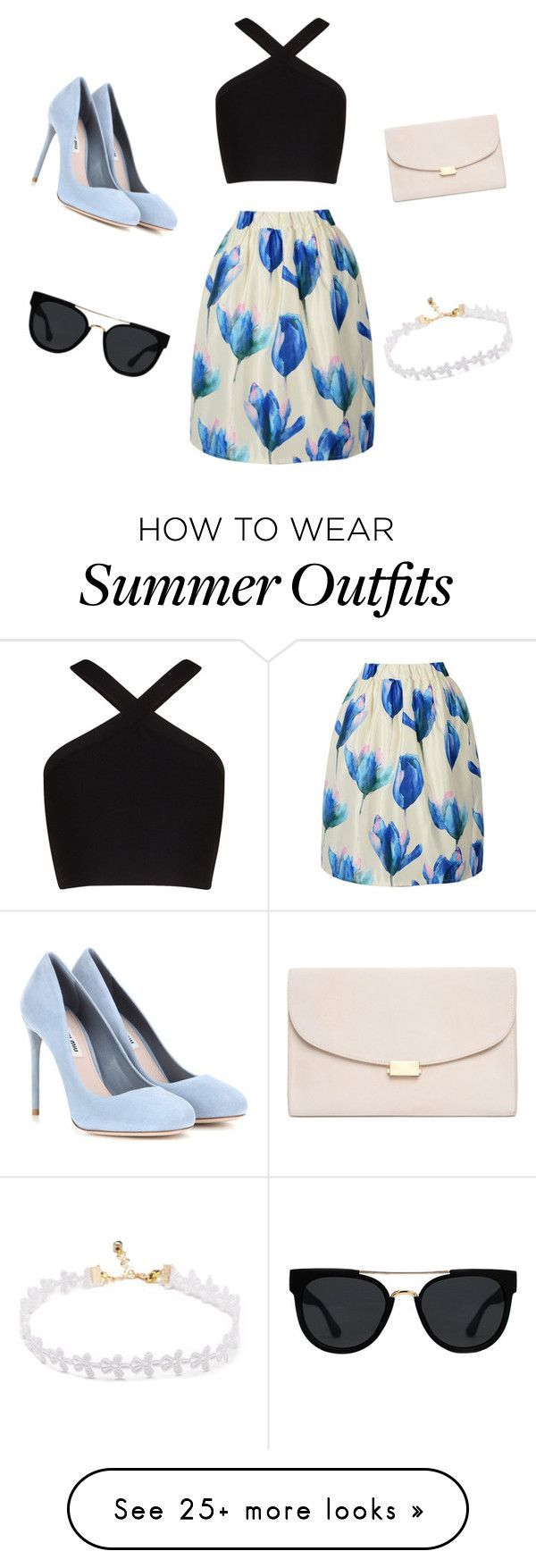 """Summer Outfits : """"Floral outfit"""" by jordan-vartan on Polyvore featuring BCBGMAXAZRIA M"""