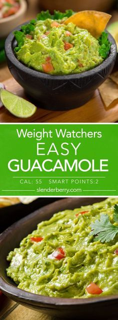 Weight Watchers Easy Guacamole Recipe - 2 Smart Points 55 Calories