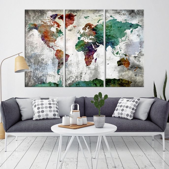 The 25 best world map canvas ideas on pinterest map canvas the 25 best world map canvas ideas on pinterest map canvas world map pin and world map mural gumiabroncs Gallery