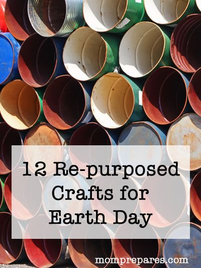 Repurposed Earth Day Crafts for everyone! #crafts #earthday