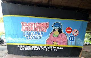 safety ride, mural project from polda metro jaya , jakarta   #streetart  #mural  #safetyride #visualart