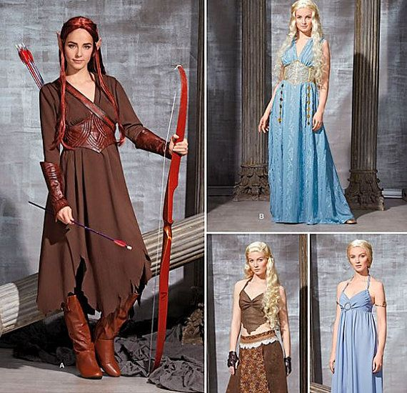 Medieval Fantasy Costumes, Lord of the Rings / Hobbit Taurial Elf, Game of Thrones Dress SEWING Pattern Simplicity 1347 / 0792, Sizes 6-22 on Etsy, $6.39