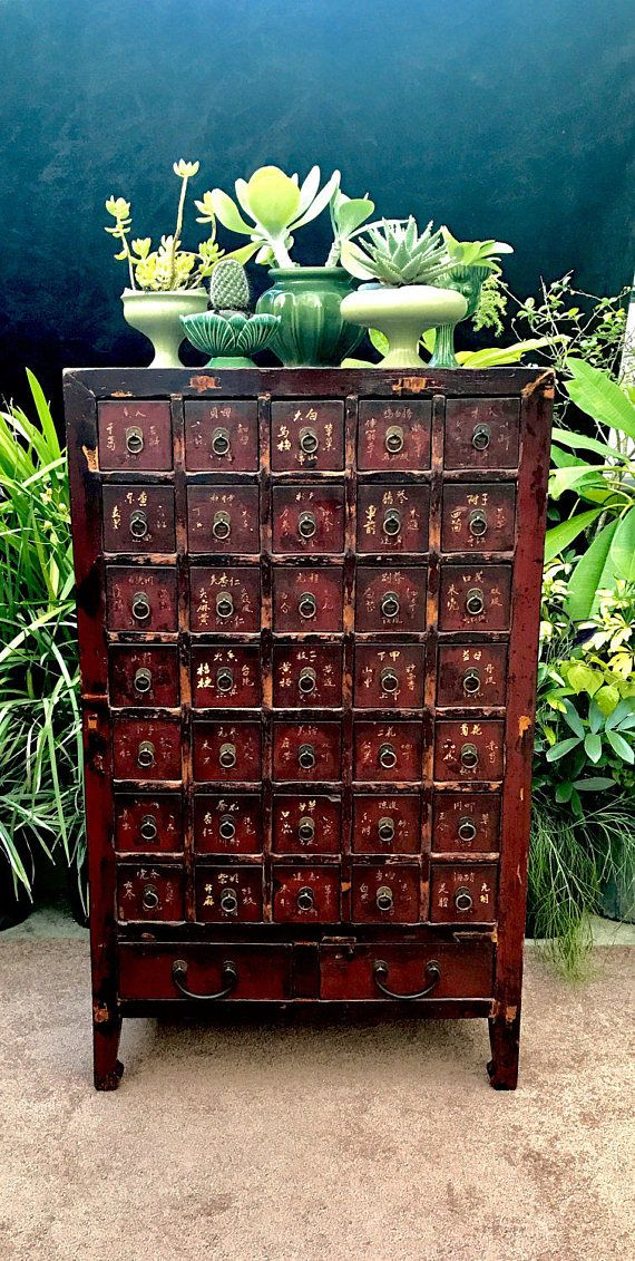 Antique Chinese Apothecary Cabinet 46 Asian 37 Drawer Apothecary Cabinet