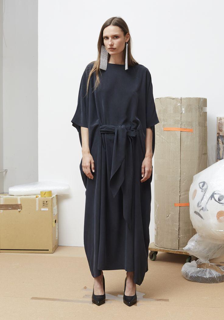 Rodebjer SS16: Dress Aura Black, Shoes Charlotte Black.