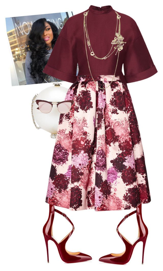 """""""Sunday!"""" by cogic-fashion on Polyvore featuring Valentino, Chanel, MSGM and Le Specs"""