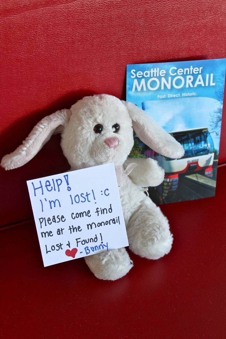 #MonorailBunny was accidentally left behind on the Seattle Monorail. We adopted him and have been using social media to try to find his owner. Bunny travels on fun adventures all over Seattle while he waits to be reunited with his owner.