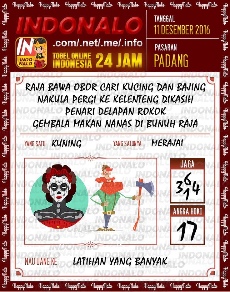 Lotre Kop 4D Togel Wap Online Live Draw 4D Indonalo Padang 11 Desember 2016