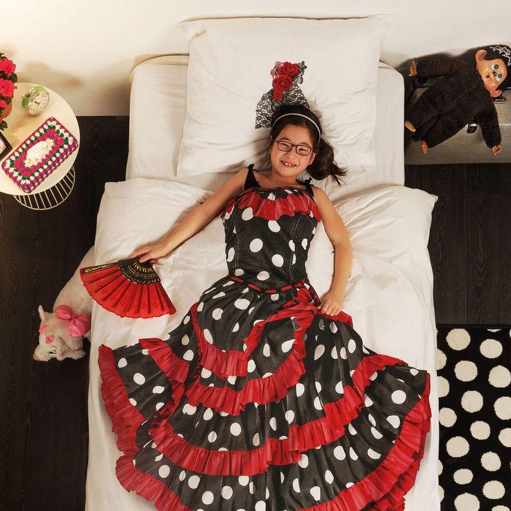#design3000 Bettwäsche mit Fotoprint eines echten Vintage Flamenco-Kleides aus Andalusien.