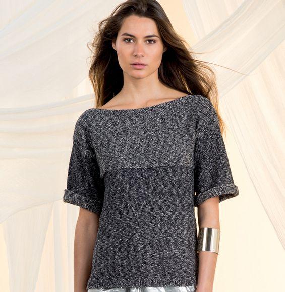Modèle pull tube point jersey Femme - Modèles Femme - Phildar