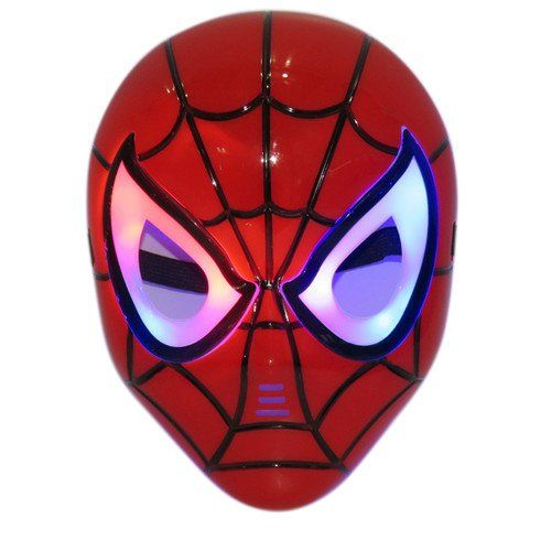 Halloween LED gl�hende Spiderman Cosplay Maske Augen Make Up-Spielzeug f�r Kinder Jungen Erwachsene VSOAIR (Rot)
