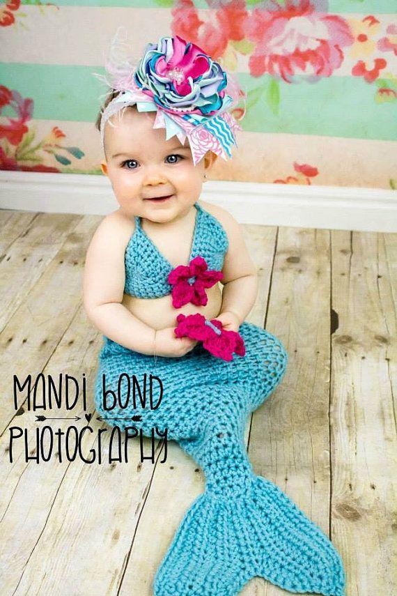 crochet mermaid outfit crochet mermaid set by chinguliscreations - Baby Mermaid Halloween Costume
