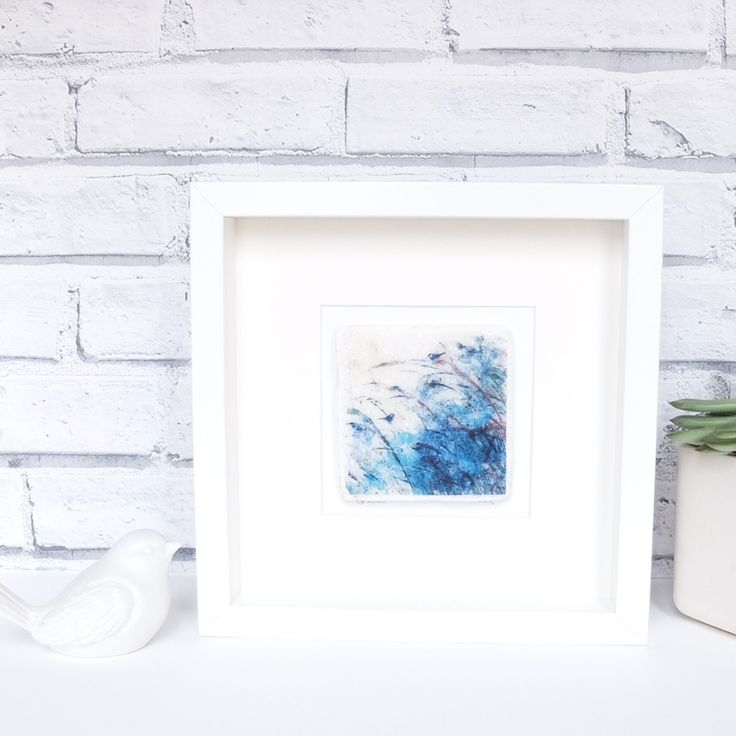 Image of Bird in the Grasses 4 - Limited Edition Printed Marble Tile, Framed & Signed
