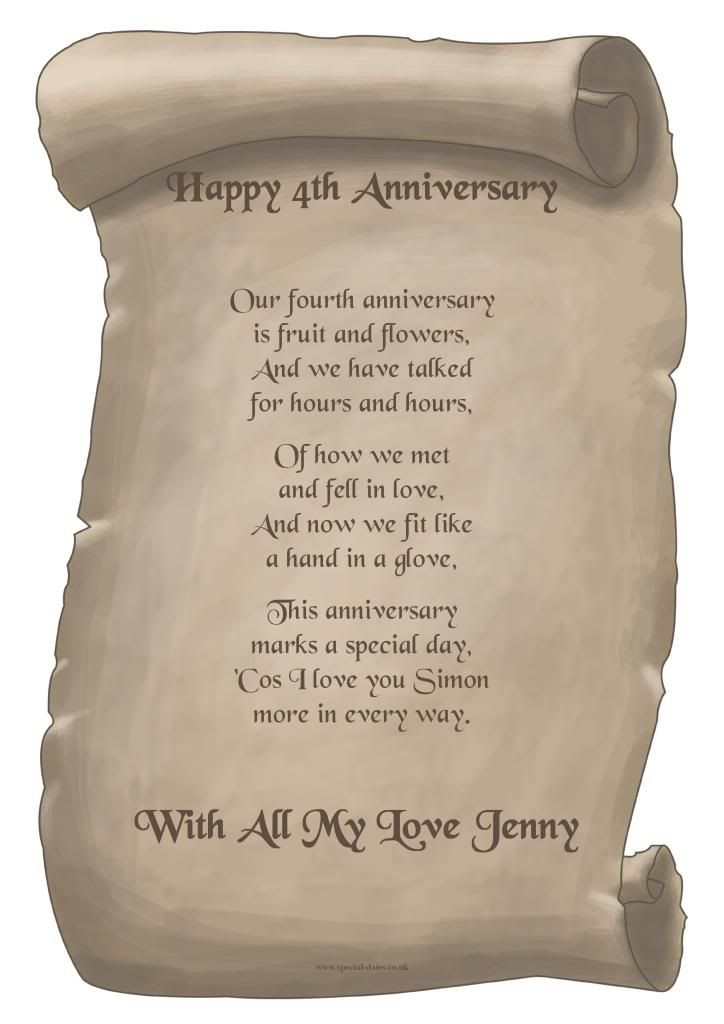 Wedding Gifts For 4th Anniversary : ... 4th anniversary, 4th anniversary gifts and 15 year wedding anniversary