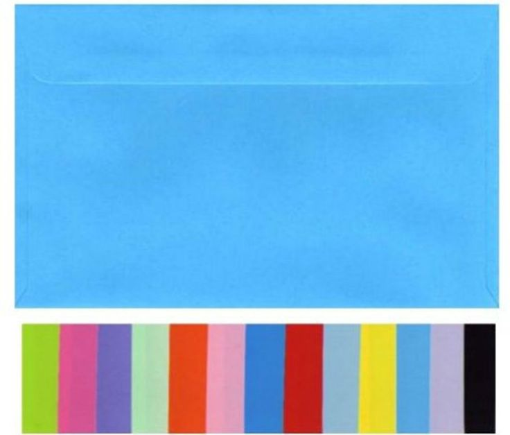 130mm x180mm Envelopes (20) Quality Smooth Flat Colours Fits 5x7 inch PHOTOS New