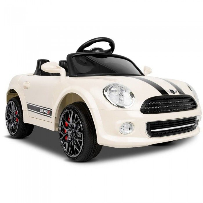 Mini Cooper Inspired Kids Ride On Car - Beige