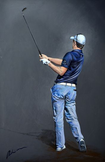 Mark Robinson Acrylic portrait painting of Justin Rose. #golf #art #dubai #justinrose #racetodubai #mydubai Note: Visit the Mark Robinson website for more details for available stock, commissions, exhibitions or tournament enquiries - www.robinsongolfart.com
