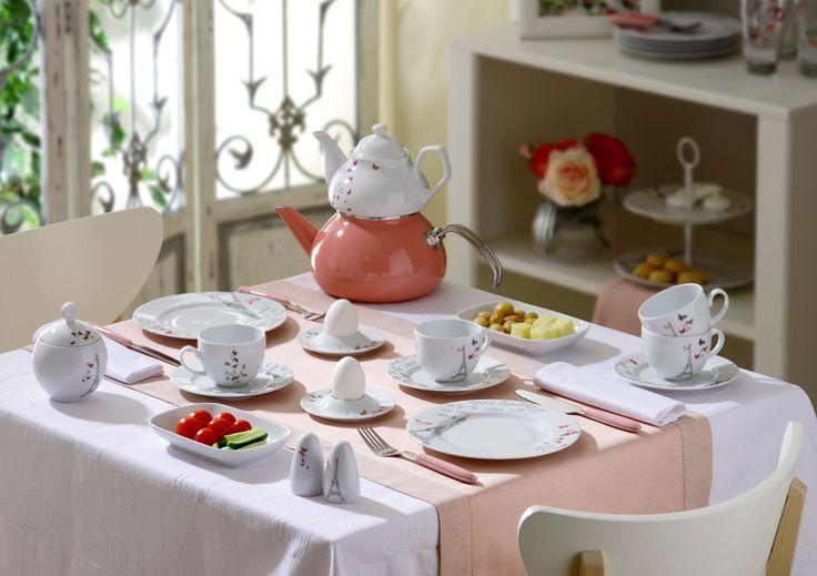 Bernardo Romance Kahvaltı Takımı / Berakfast Set #bernardo #paris # pint #pembe #breakfasttime