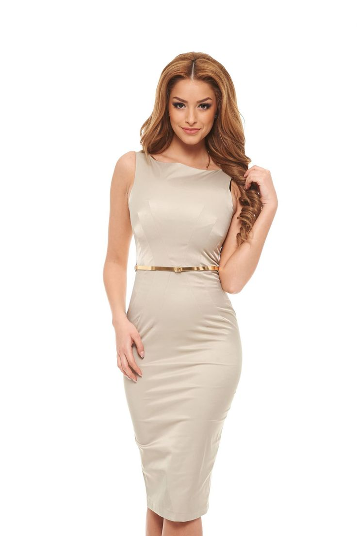PrettyGirl Famous Glam Cream Dress