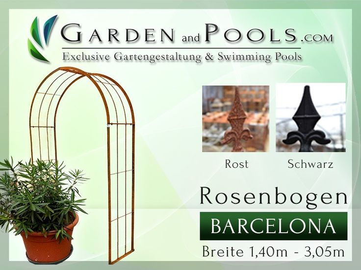 Rosenbogen Barcelona Breite: 1,4 m - 3,05 m - Garden and Pools