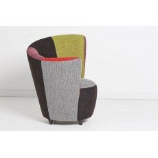 MULTI RHF Multi Fabric Curve Chair Right Hand Facing From £349 Sofas Brighton