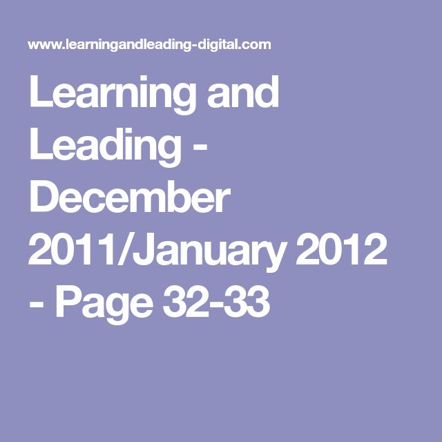 Learning and Leading - December 2011/January 2012 - Page 32-33