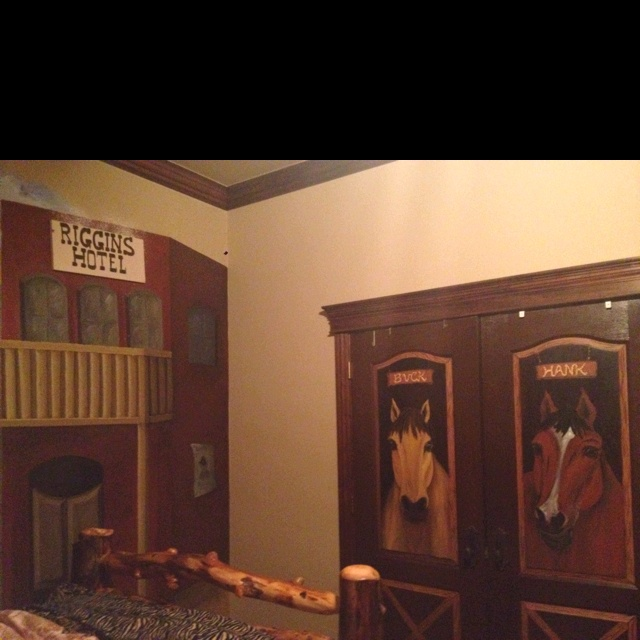 Little boy cowboy room- who do I know that can draw horses? Nicole!!!