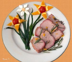 Фото к рецепту: Говядина с апельсинами и розмарином  Primavera