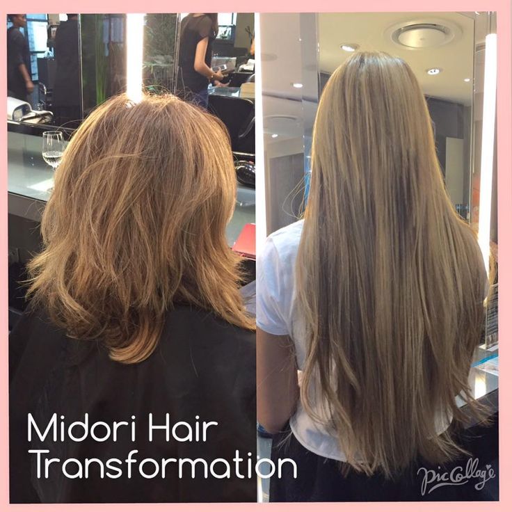 Great hair transformation with extensions and highlights by Carmel at Midori!