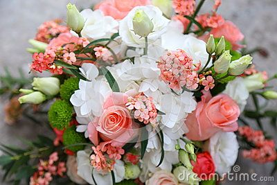 Bouquet of flowers - bouquet of pink roses and white.