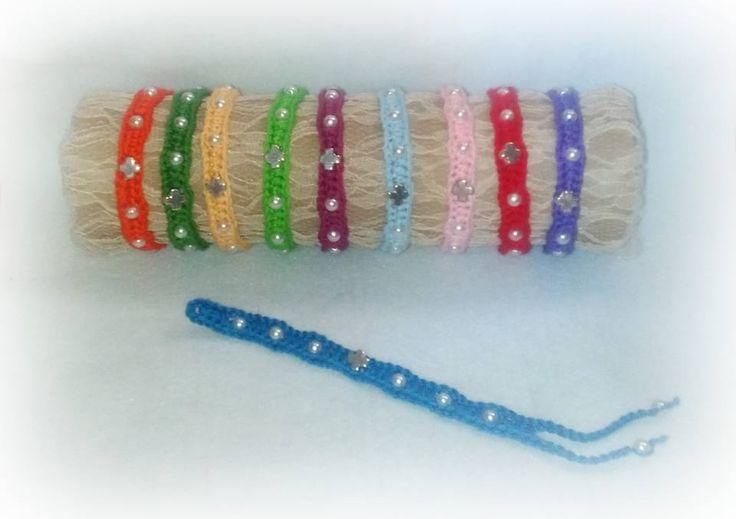 crochet handmade bracelets by plektologio