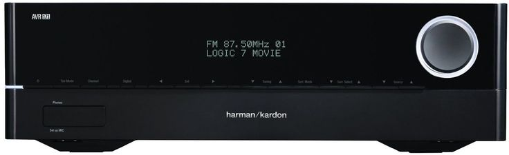 Harman Kardon Amplificateur Audio Vidéo AVR 171 (2013) Dolby TrueHD DTS‑HD 7.2 et 5.1. Radio, #Bluetooth #USB compatible iPod et iPhone (AAC, MP3, ALAC...). 2 sorties et 6 entrées #HDMI, 2 RCA, 2 optiques. En le connectant par #ethernet à un routeur #Wifi : connexion #Airplay pour musique sans fil depuis iPhone, iPad et iPod Touch, accès au serveur multimédia DLNA de mon routeur ASUS RT-AC68U associé à mon disque sur le port USB 3.0 : lecture des fichiers FLAC, MP3... Accès Webradio…
