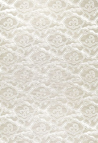 Cirrus Clouds wallpaper in Fog & Chalk by @Celerie Kemble for @Schumacher — Fabric Wallcovering Trimming Furnishing