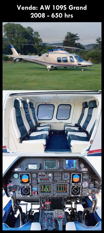 Aeronave à venda: Agusta Westland AW 109S Grand, 2008, 650 hrs. #agusta #agustawestland #aw109sgrand #agustagrand #airsoftanv #aircraftforsale #aeronaveavenda #pilot #piloto #helicoptero #aviation #aviacao #heli #helicopterforsale  www.airsoftaeronaves.com.br/H192