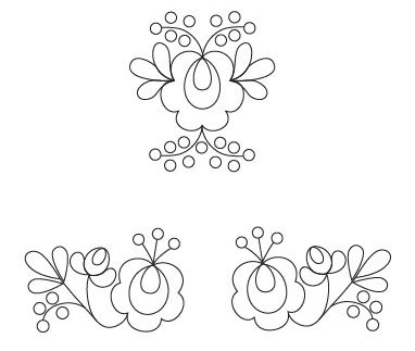 Paloc hungarian floral embroidery motif