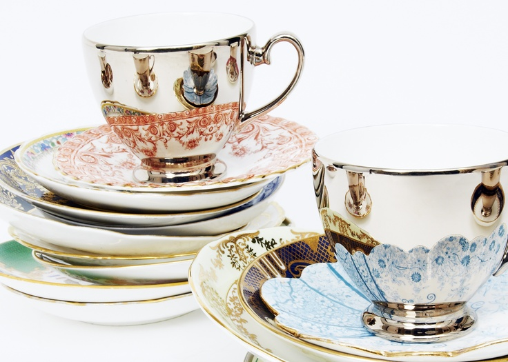 Reflect tea cups by Richard Brendon